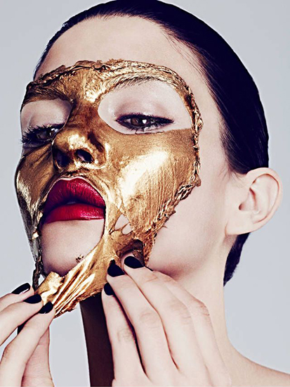 how to make gold facial at home