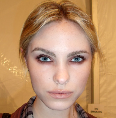 """The inspiration for the makeup look [at Rebecca Minkoff's Spring 2011"