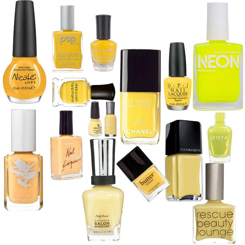 Yellow Nail Polish On: Nail Trend: Yellow Polish